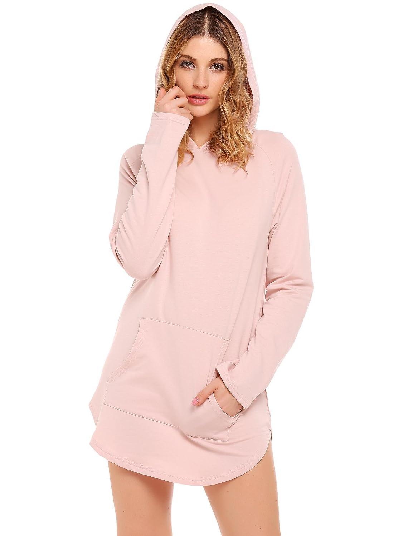Wildtrest Women's Casual Lightweight Hoodie Sweatshirt Loose Pullover Tunic Top