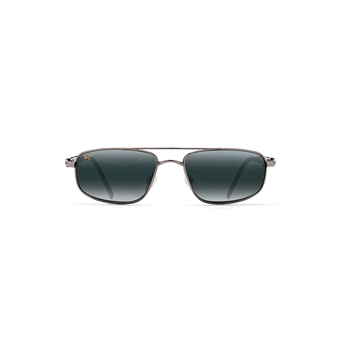 8bd661b09f Maui Jim 162-02 Gunmetal Kahuna Aviator Sunglasses Polarised Driving   Amazon.co.uk  Clothing