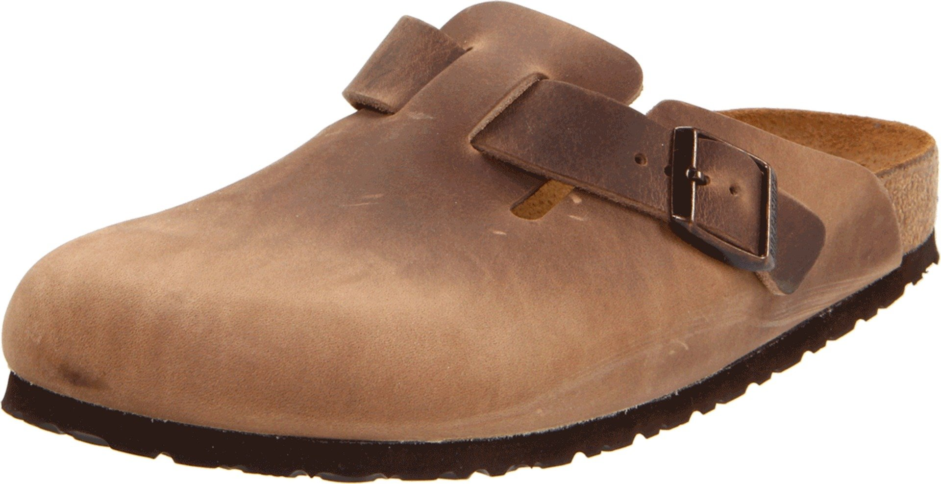 Birkenstock Boston Classic  Arch Clog,Tobacco Brown Leather,39 M EU