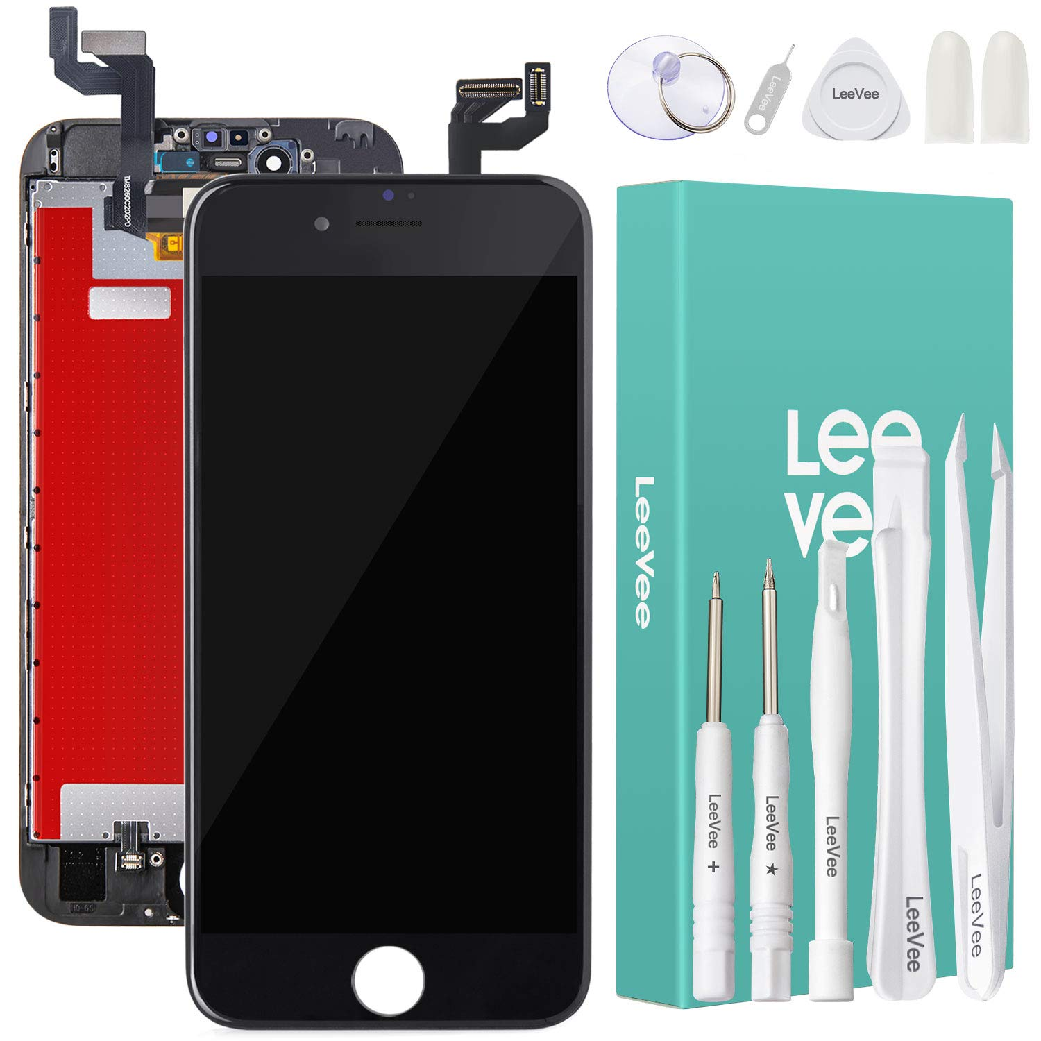 for iPhone 6s Screen Replacement,New 4.7 inch iPhone 6s LED Backlight Display Screen with 3D Touch Display Repair for iPhone 6s Digitizer Screen, Black 6S Screen Repair with Full Screen Repair Tools