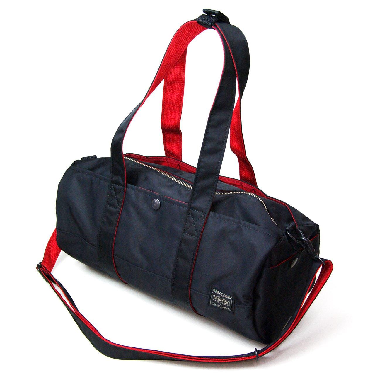 ポーター エルファイン 【PORTER L-fine】 PORTER×ILS共同企画 ロールボストンバッグ Roll Boston Bag 【LYD383-06697】 ブラック 裏地=レッド Black Backing=Red B00GNVT0XI