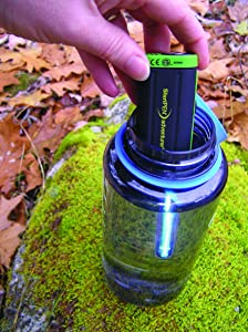 This images shows the SteriPen Adventurer Opti UV Water Purifier for backpacking.