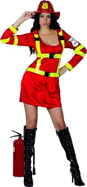 Disfraz de bombero mujer - M: Amazon.es: Juguetes y juegos