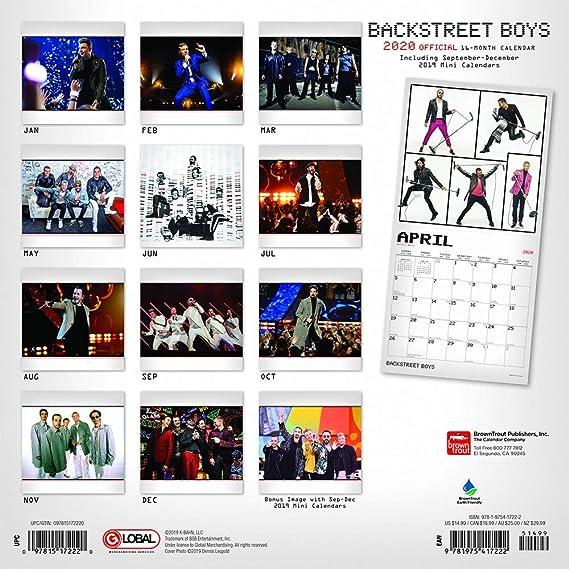 Backstreet Boys Calendar 2020 Boy Band Backstreet Boys Wall