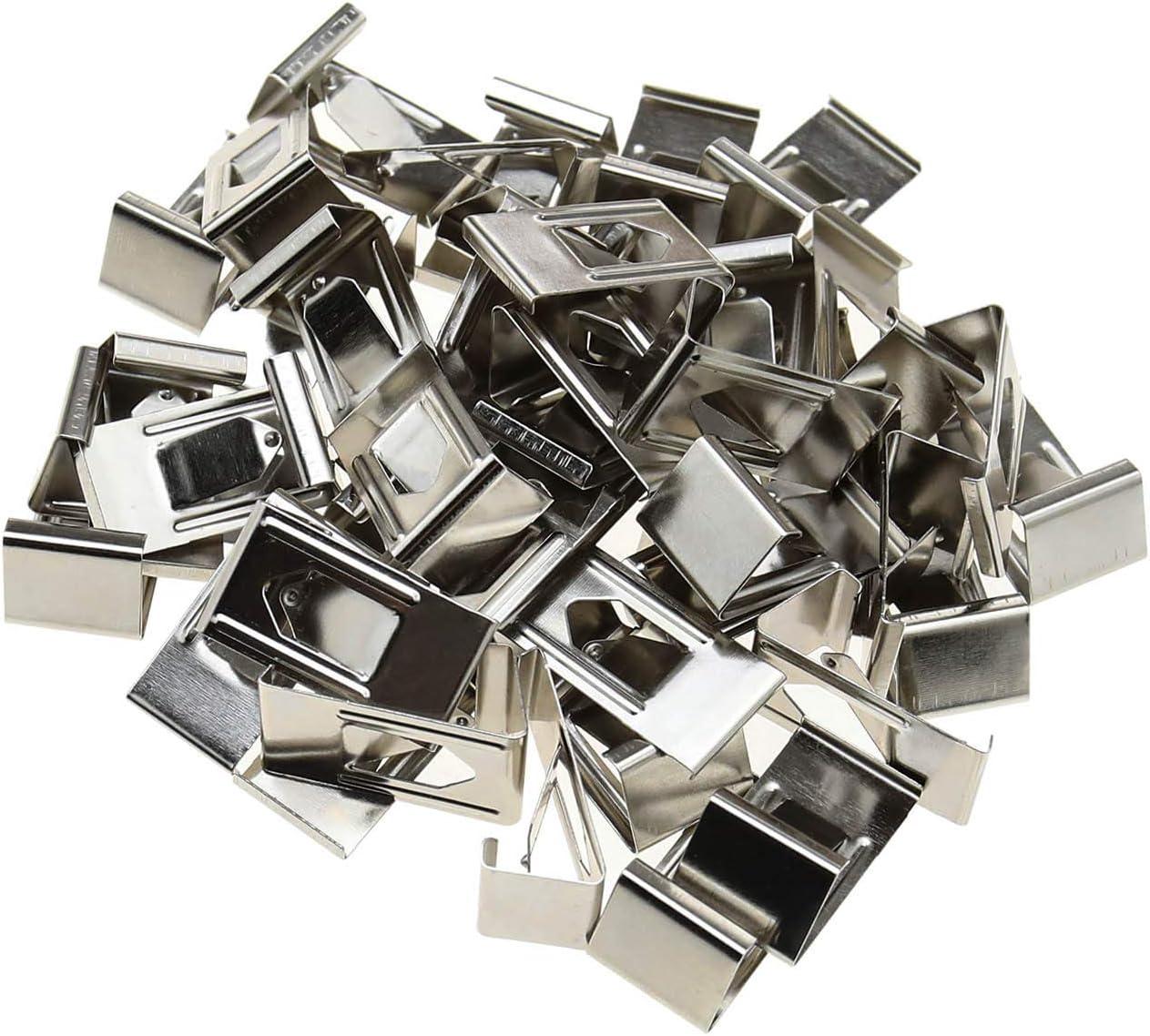 Lot de 50 clips de fixation pour plateau en verre pour imprimante 3D Argent/é