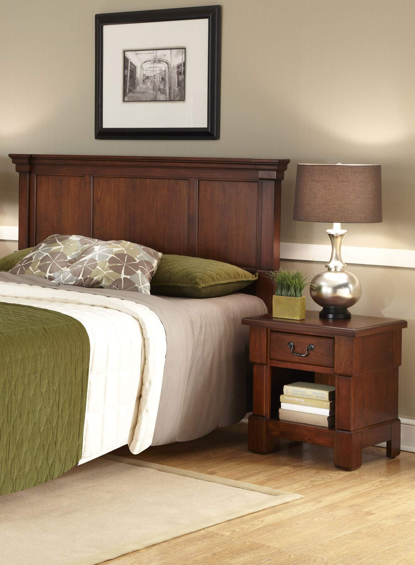 Aspen Rustic Cherry Queen Headboard by Home Styles by Home Styles