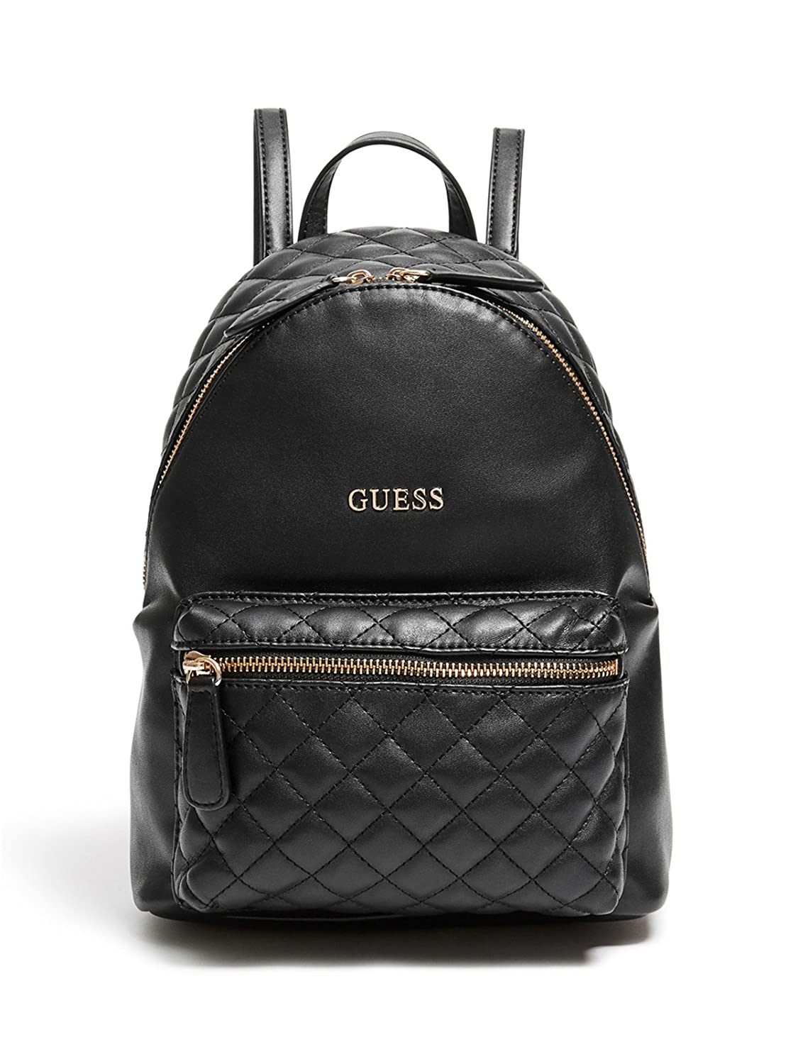 Guess Backpack for Women On Sale, Black, Leather, 2017, one size