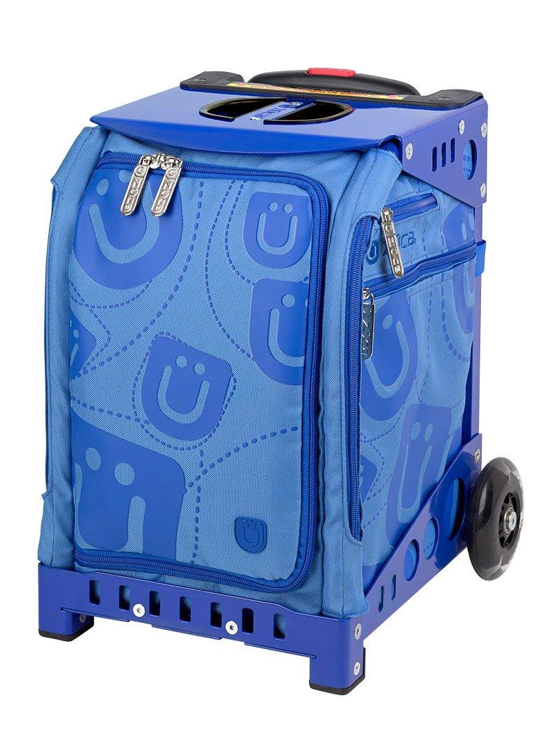 Zuca Mini Blue Smile Insert/Blue Frame includes Blue Snack Pouch / 89055900642