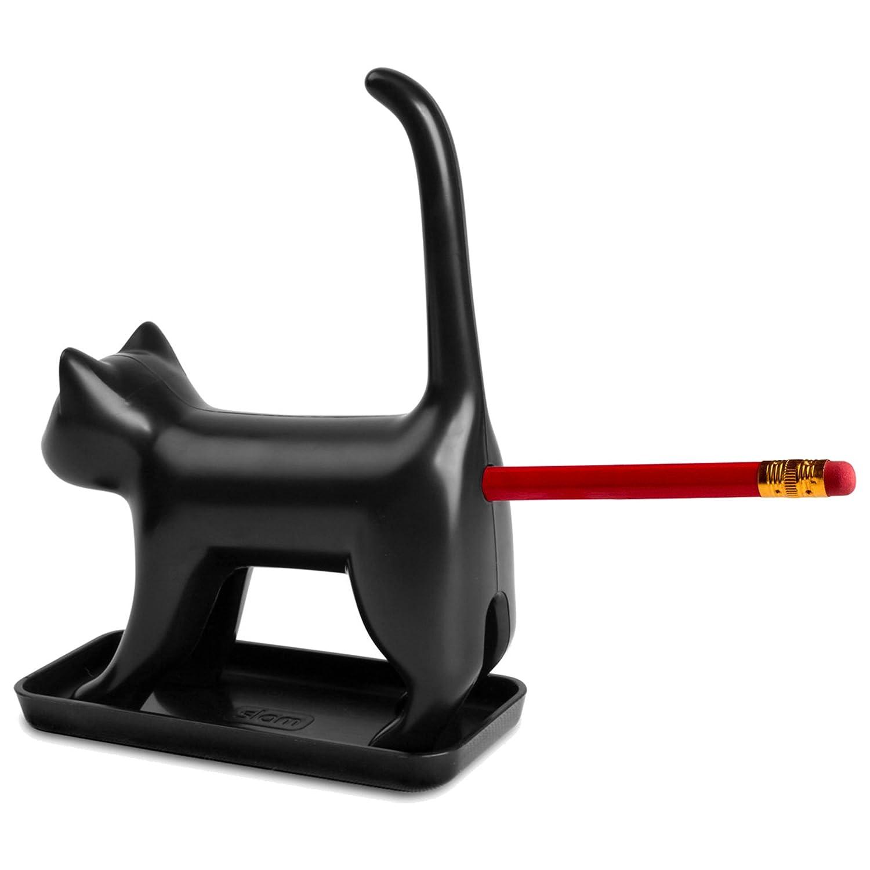 Slam Design Sharp End Cat Taille-crayon en forme de chat Noir