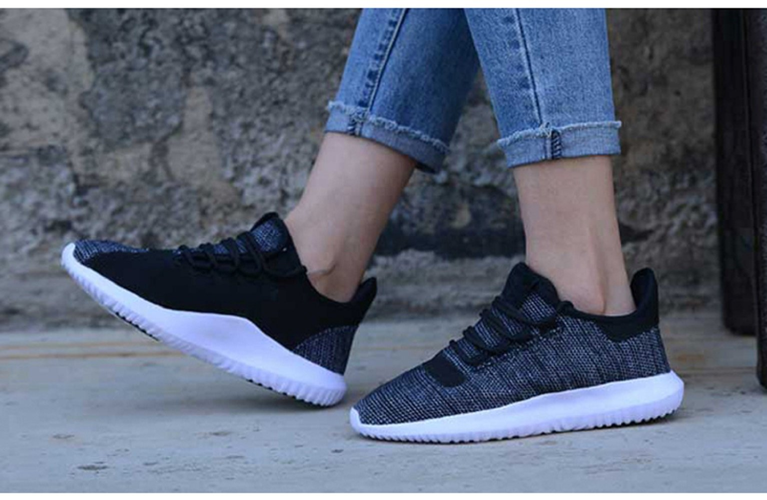 GAOAG Sneakers Running Cushioning Lightweight Breathable Casual Shoes Unisex by GAOAG (Image #3)