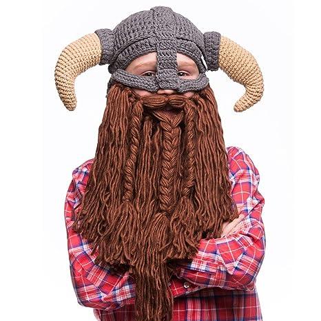 4795aa7598e Amazon.com  Beardo Kids Battle Viking Detachable Beard Hat  Sports    Outdoors
