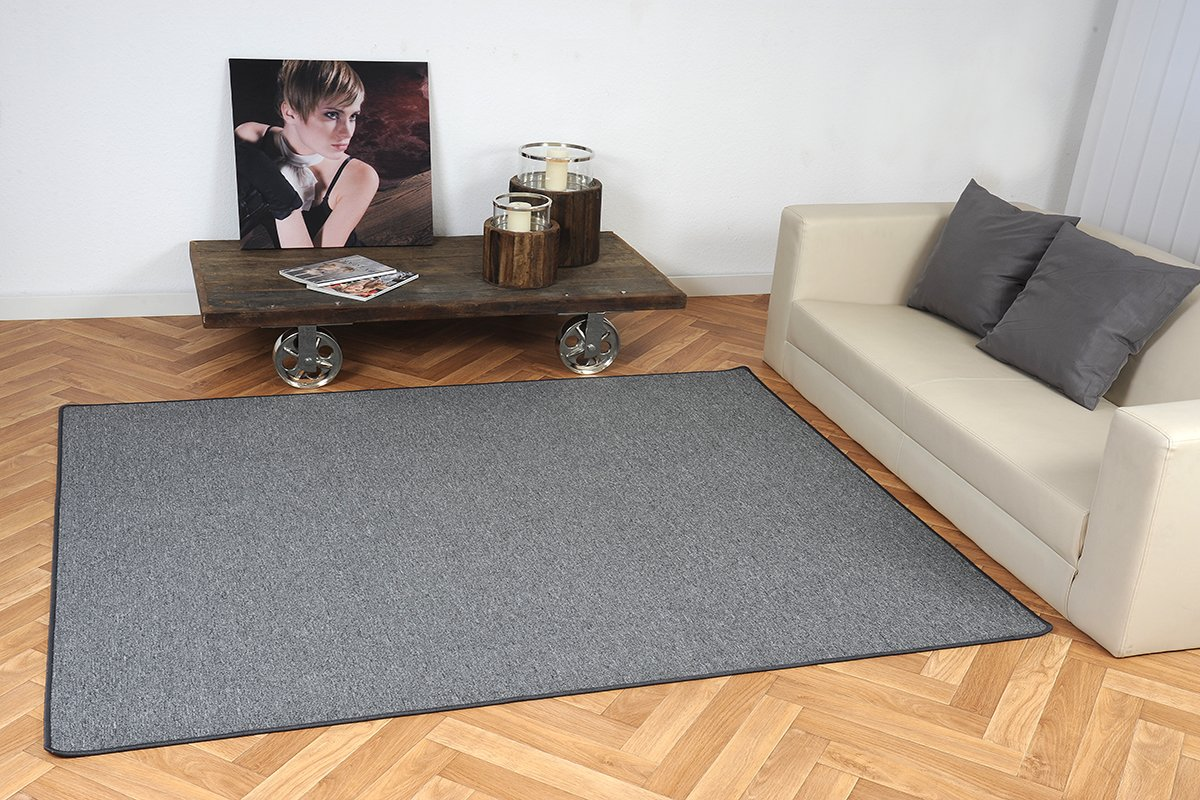 Schlingen Teppich Torronto Anthrazit nach Maß - versandkostenfrei ...