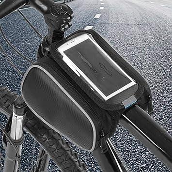VGEBY1 Bolsa de Tubo Frontal para Bicicleta, Funda para teléfono ...