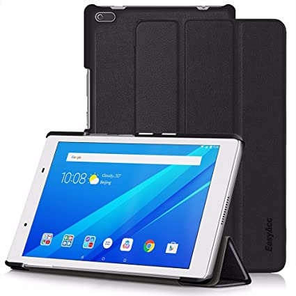 finest selection 4814d 33914 EasyAcc Case for Lenovo Tab 4 8, Ultra Slim Smart Case Cover with Auto  Sleep Wake-up/Stand Function Compatible with Lenovo Tab 4 8 inch (Premium  PU ...