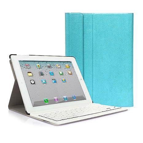 iPad 2 3 4 Funda con Teclado Bluetooth ,CoastaCloud iPad 2/3/4 Funda Cubierta Protectora ...