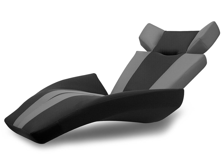座椅子型リクライニングソファー グランデルタマンボウソファー  (メッシュ生地) (グレー(V字ストライプ)) B00OT128MY グレー(V字ストライプ) グレー(V字ストライプ)
