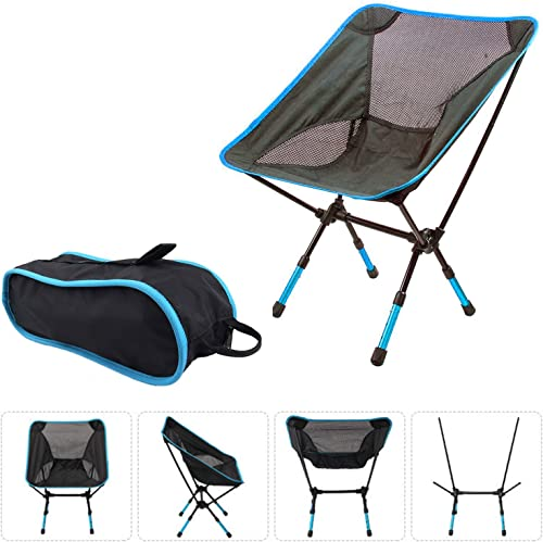 Suyi Portable Lightweight Heavy Duty Folding Outdoor Picnic Beach Travel Fishing Camping Chair Stool Backpacking Chairs,Durable 600D Thicken Oxford Cloth,Sturdy Aluminum Alloy Frame,with Carry Bag