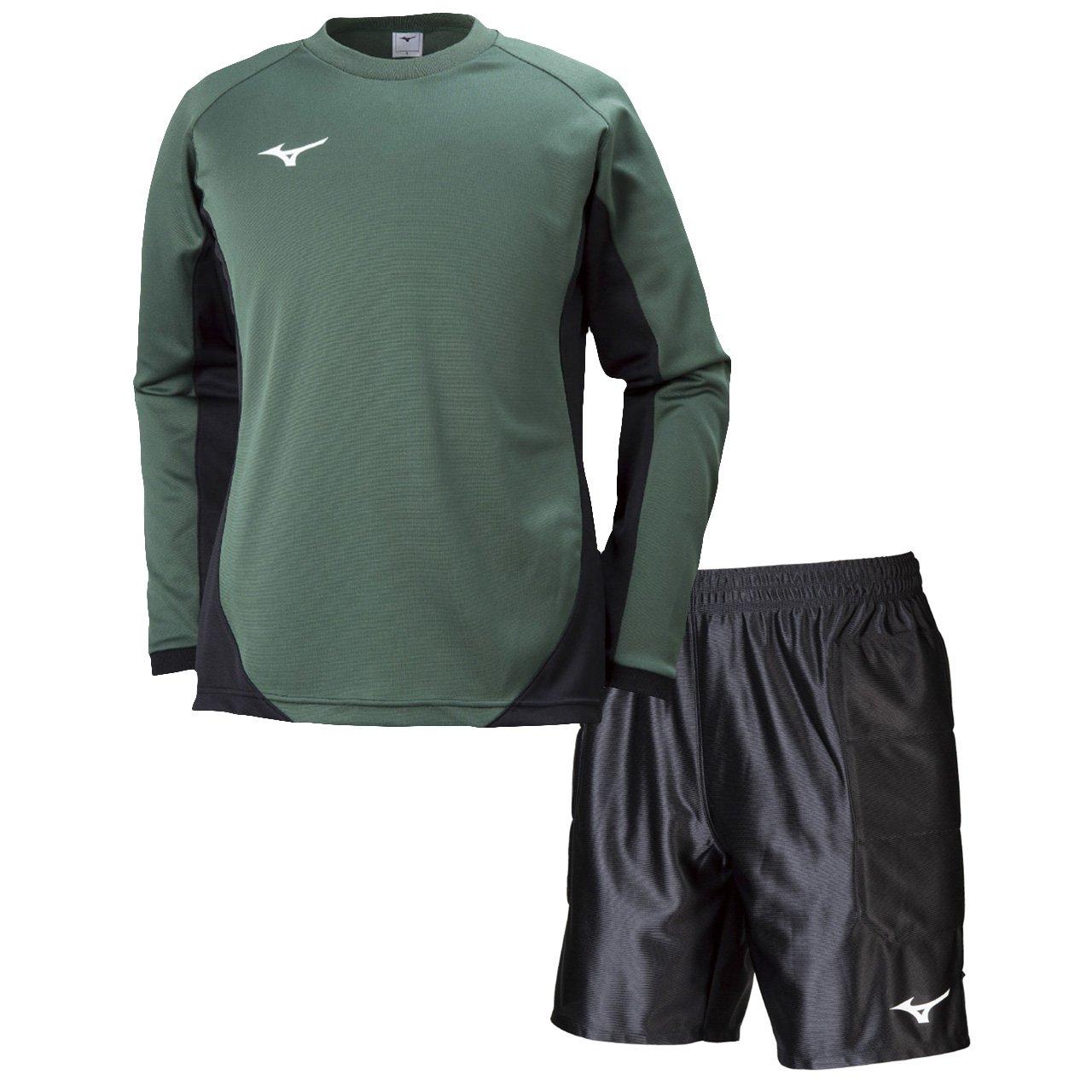 ミズノ(MIZUNO) キーパーシャツ&キーパーパンツ 上下セット(グリーン/ブラック) P2MA8075-33-P2MB8075-09 B079YSVH66 S|グリーン/ブラック グリーン/ブラック S