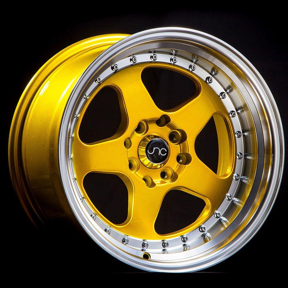 JNC Wheels 5x114.3-18x9 inch 18 JNC010 Candy Gold Machined Lip Rim