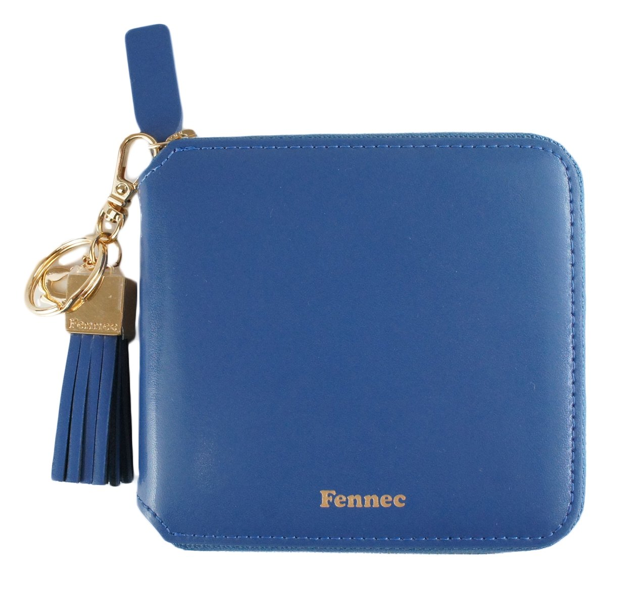 Fennec Zipper Wallet Square Tassel フェネック 二つ折り財布 コインケース付き 【Fennec OFFICIAL】 B0765M21SJ ダスティブルー ダスティブルー