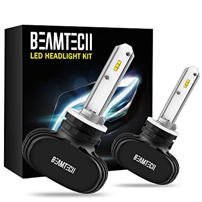 BEAMTECH 880 LED Headlight Bulb, 50W 6500K 8000Lumens Extremely Brigh 885 893 899 CSP Chips Conversion Kit: Automotive