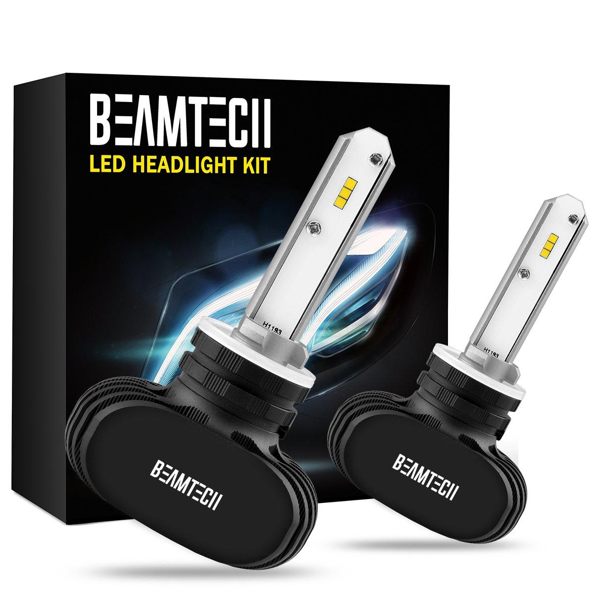 BEAMTECH 880 LED Headlight Bulb, 50W 6500K 8000Lumens Extremely Brigh 885 893 899 CSP Chips Conversion Kit