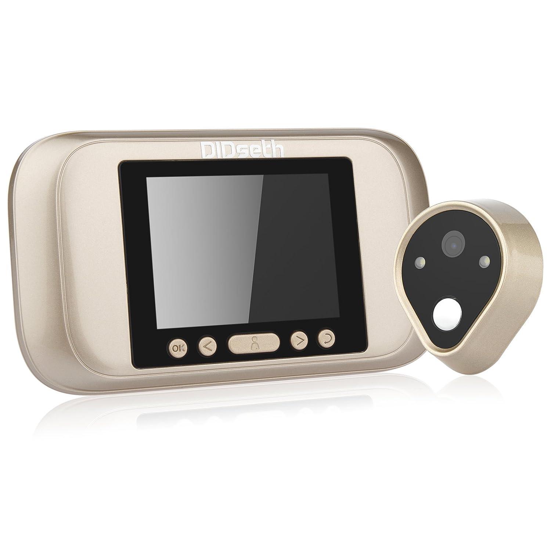 DIDseth Judas numérique – 3.2 Écran LED porte Viewer 960P longue veille Fonction de sonnette de porte, fonction vidéo, fonction Supporte carte SD jusqu'à 32 Go à piles fonction vidéo DIDseth137