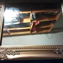 32x27x3cm espejo de pared rectangular, marcos antiguos de época hechos a mano de madera, oro, incl. Asamblea: Amazon ...