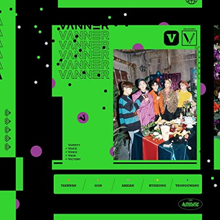 VT Entertainment Vanner - V (Vol.1) CD+Booklet+2Photocards: Amazon ...