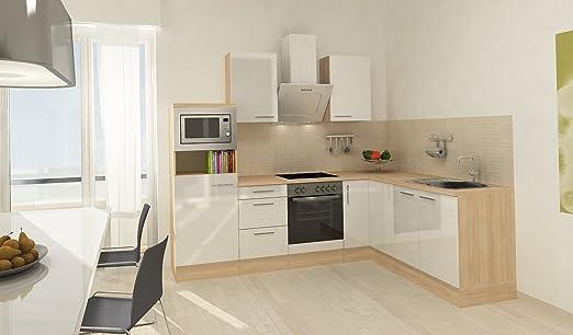 respekta Premium L Cocina empotrable 260 x 200 cm imitación ...