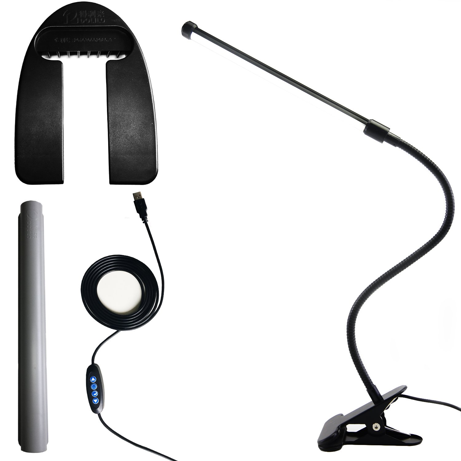 Led Clip on Light/Reading Light with Gooseneck 5W Piano Light Color Temperature Changeable Clip Light (Metal)