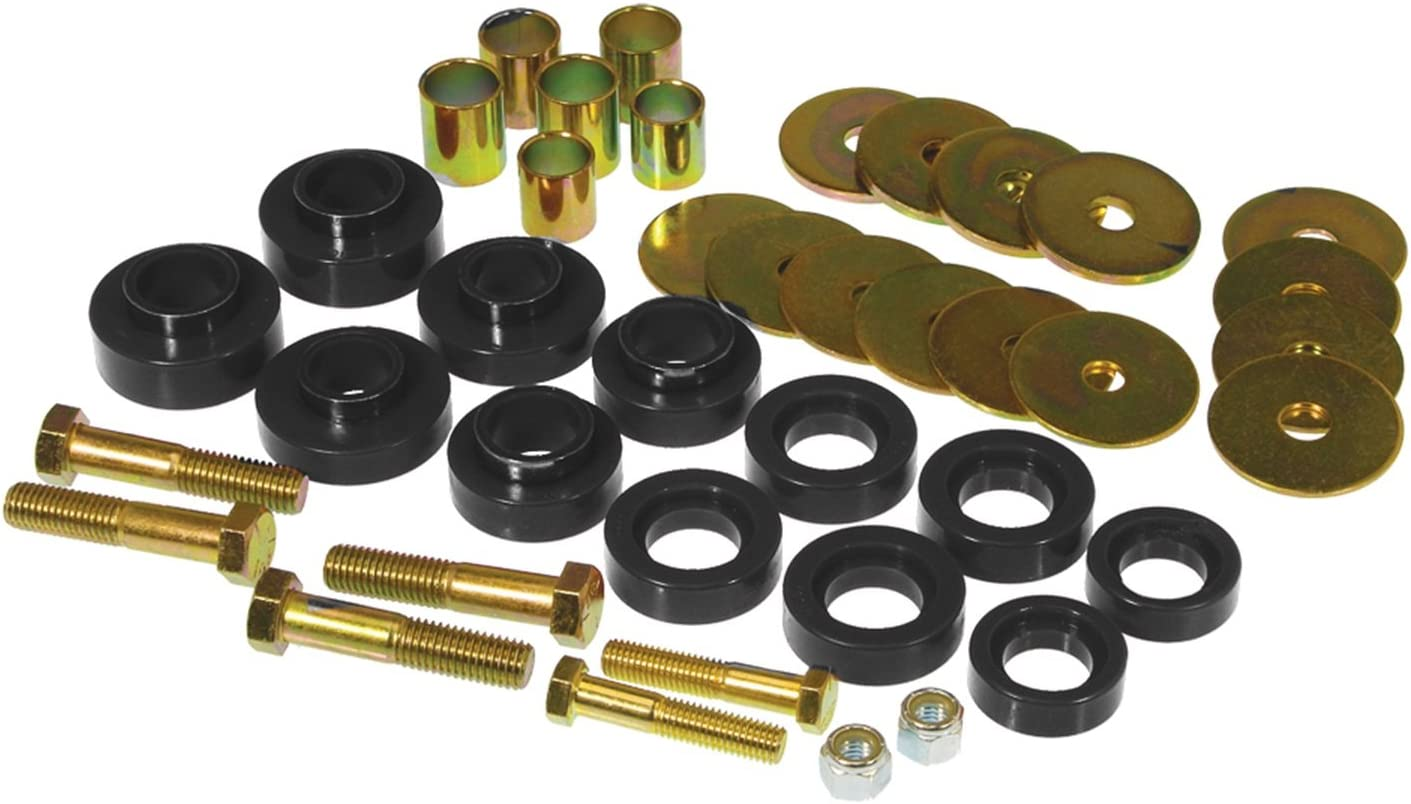 Prothane 7-127 Red Body Mount Kit with Hardware