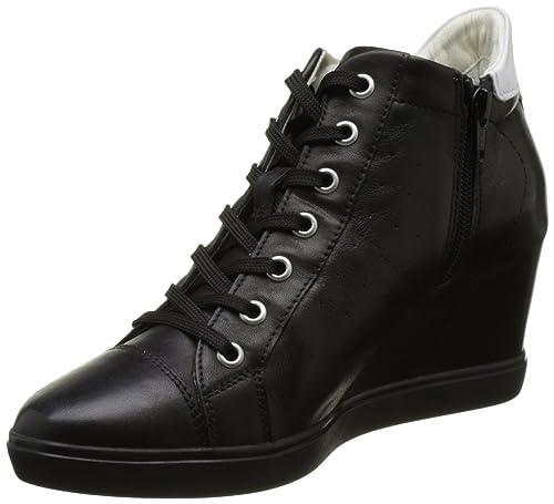 D ILLUSION A, Zapatillas Altas Mujer, Negro (BLACKC9999), 40 EU Geox
