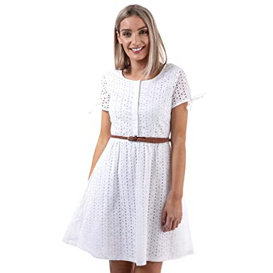 f61dae3a80c23c Yumi Robe Broderie Anglaise Day Crème Femme  Yumi  Amazon.fr ...