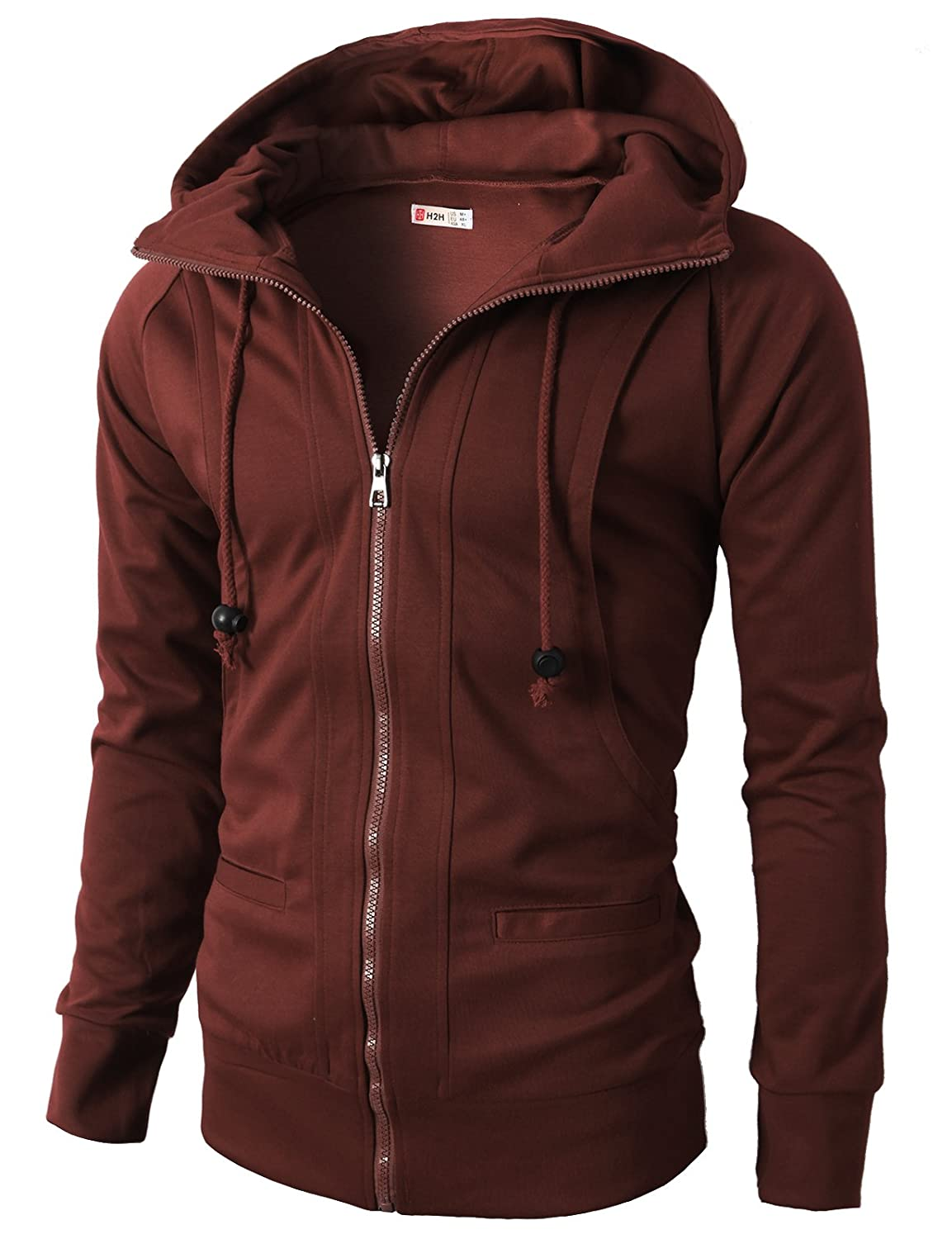 b8c695020f1 Zip closure. Style No    KMOHOL019 - Casual High Neckline Hooded with 11  Colors
