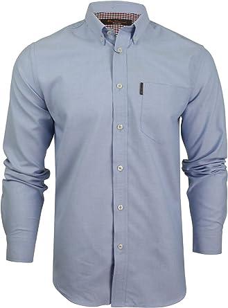 Ben Sherman - Camisa de manga larga para hombre Azul azul L: Amazon.es: Ropa y accesorios