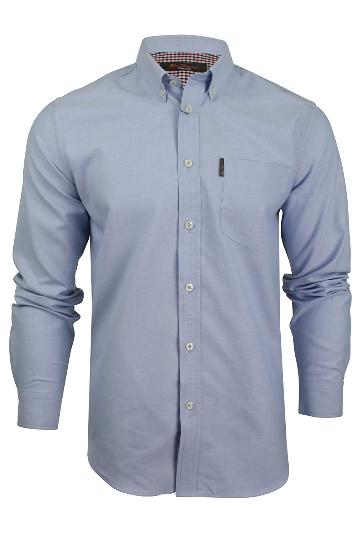 Ben Sherman - Camisa de Manga Larga para Hombre Azul Azul XL: Amazon.es: Ropa y accesorios