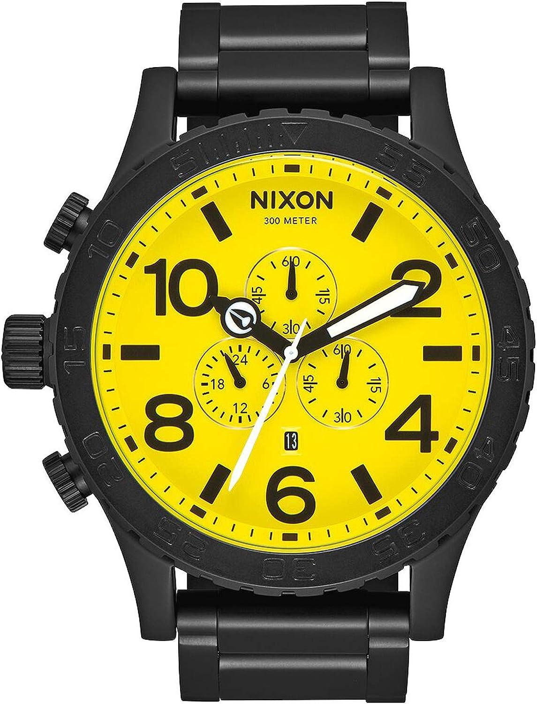 Nixon 51/30 Reloj para Hombre Analógico de Cuarzo con Brazalete de Acero Inoxidable A0833132