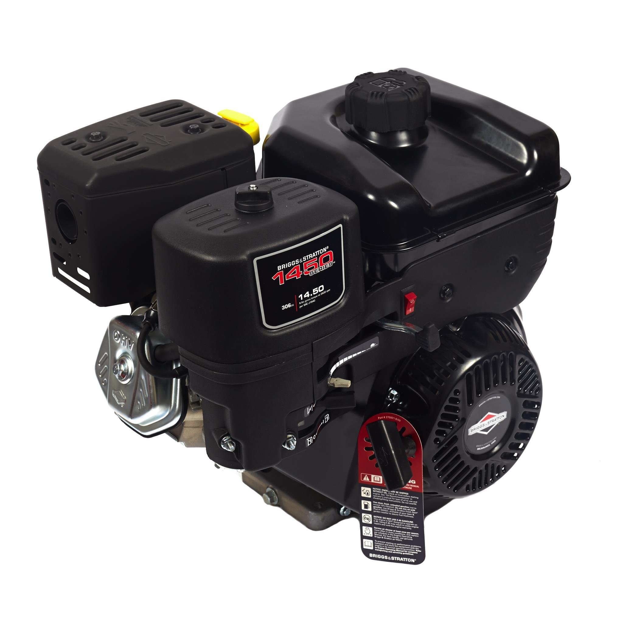 Gas Engine, 3750 RPM, 3.48 in. Shaft L by Briggs & Stratton