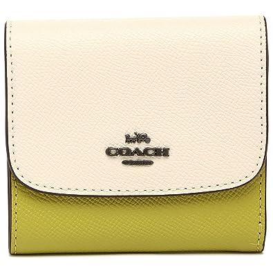 a9308317ff4c Amazon   [コーチ] 折財布 アウトレット レディース COACH F26458 QBN2O ホワイト イエロー [並行輸入品]   COACH (コーチ)   財布