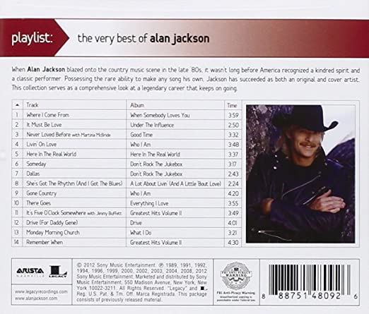 Alan Jackson Playlist The Very Best Of Alan Jackson Amazon