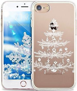 Coque iPhone 8 Etui,Coque iPhone 7,Cerf de flocon de neige de Noël ...