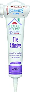 Red Devil 498 House & Home Restore Tile Adhesive EZ Squeeze Tube, 5 Fl. Oz, 1-Pack, White