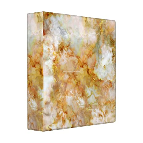 Amazon 3 Ring Binder Gold Rippled Marble Book 4 Sizes