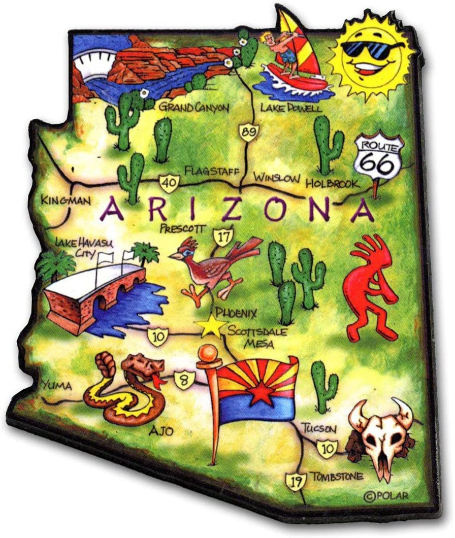 Arizona State Decowood Jumbo Wood Fridge Magnet 3