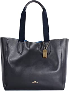 fd92447a36bc Coach Soft Pebble Leather Derby Tote F58660 Midnight Lapis