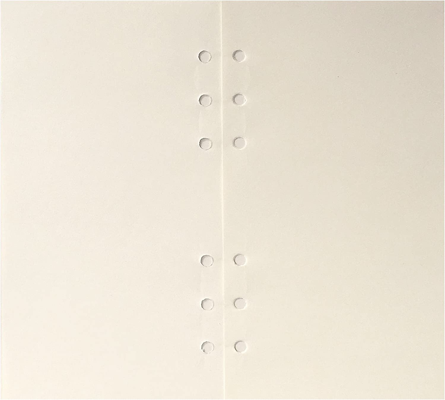 A6 6-Holes Cover Round Ring View Binder File Folder for Loose Leaf Sheet Protectors//Notebook Refill//DIY Scrapbooking//Binder Cover Protector A6 Paper Refill-Grid Graph, 1 Package