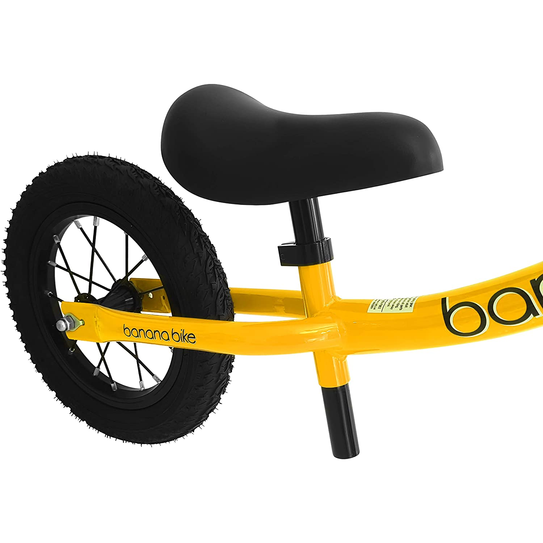 2 Giallo Bicicletta da Equilibrio Senza Pedali per Bambini Banana Bike GT 3 4 e 5 Anni di et/à