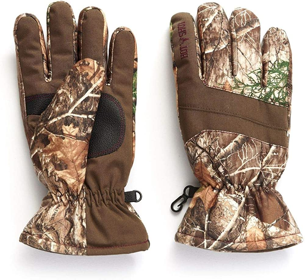 Amazon.com: HOT SHOT Women's Camo Defender Glove – Realtree Edge Outdoor  Hunting Camouflage: Clothing