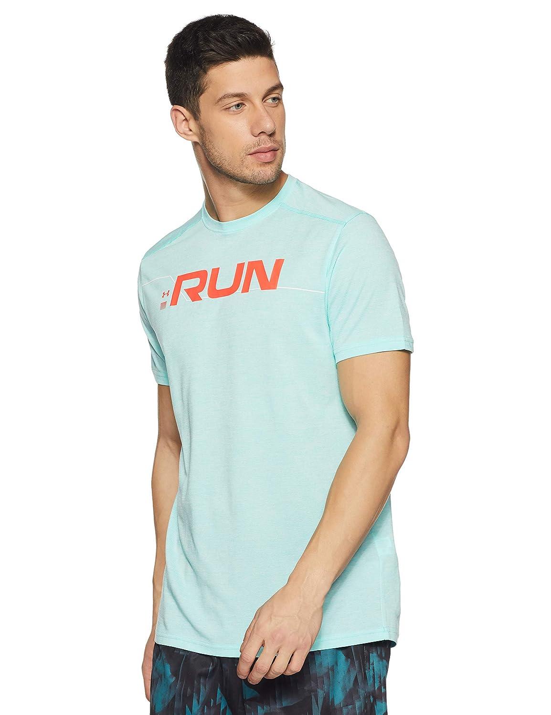 93c36b73 Under Armour Men's Ua Run Front Graphic Ss Short-Sleeve Shirt:  Amazon.co.uk: Sports & Outdoors